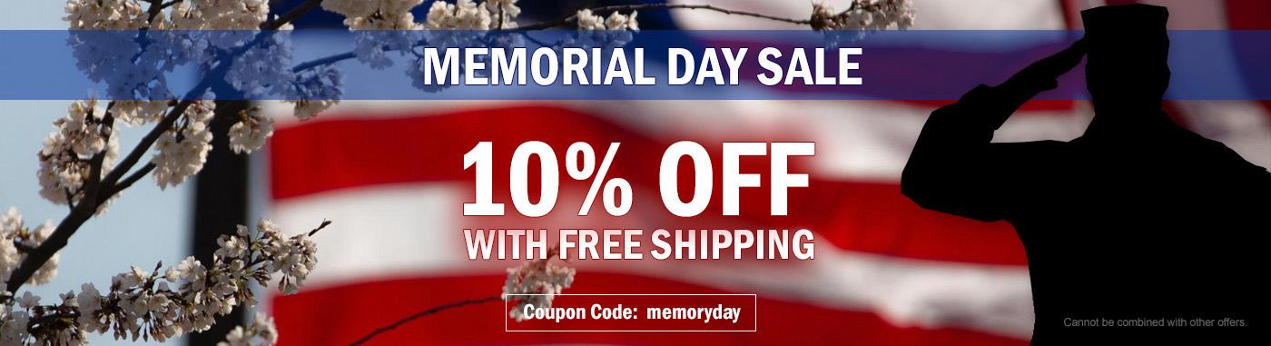 Memorial Day Sale - 10% OFF