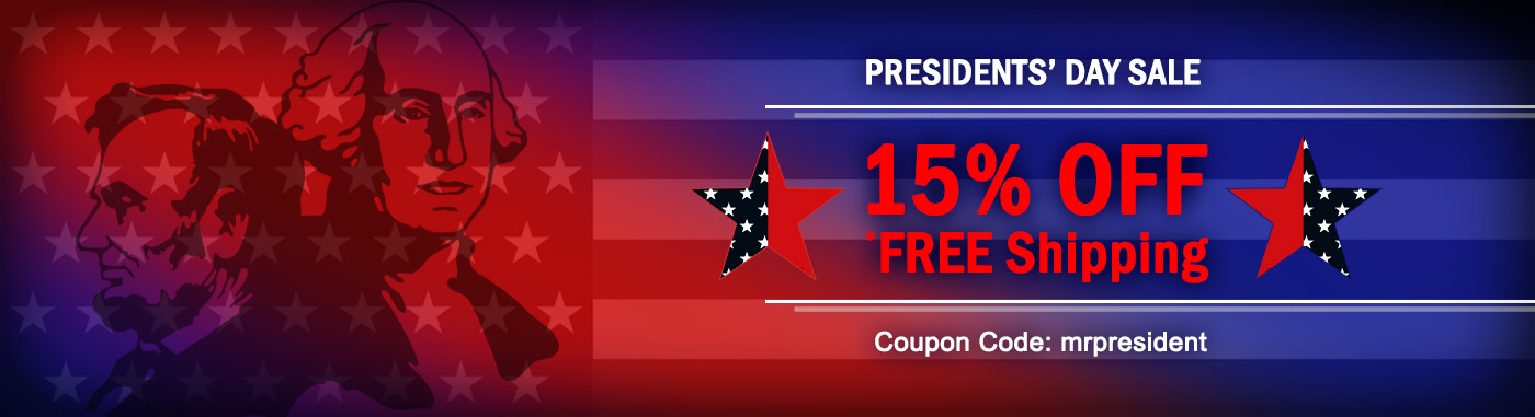 Presidents Day Sale - 15% OFF