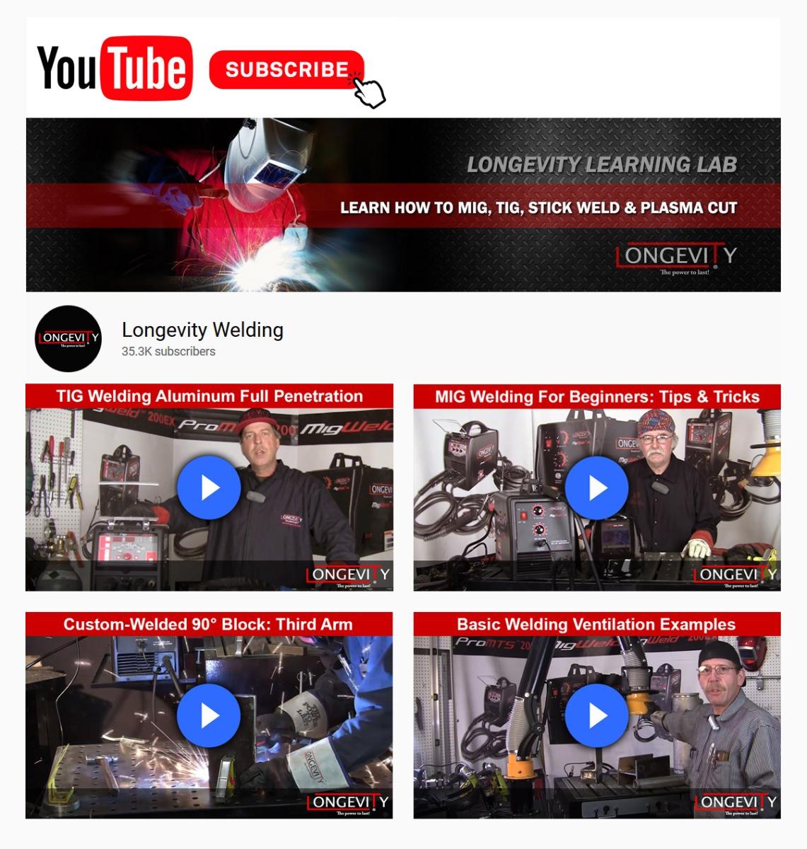 Subscribe to Longevity on YouTube